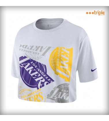 LAKERS TEE WOMAN CROP