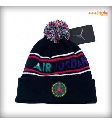 JORDAN STRIPED POM BEANIE KID